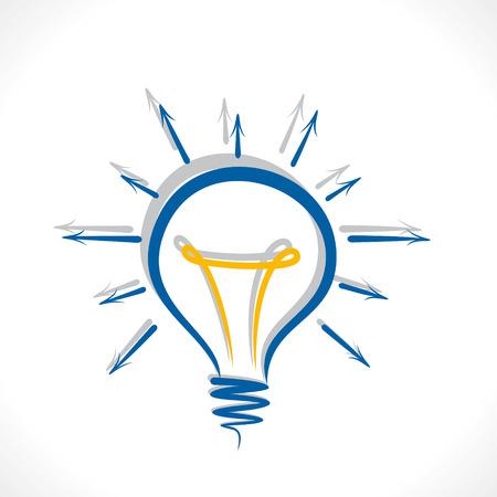 share your idea concept bulb design vector