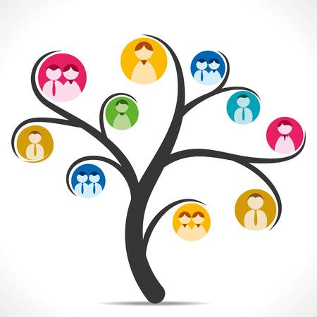 red de personas: �rbol de la red de personas Vectores