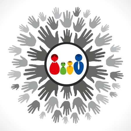 family support hand  Stock Vector - 24748719