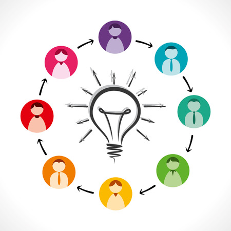 share new idea to other people concept background vector