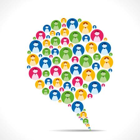 La conception créative message bulle avec des gens icône vecteur Banque d'images - 24893079