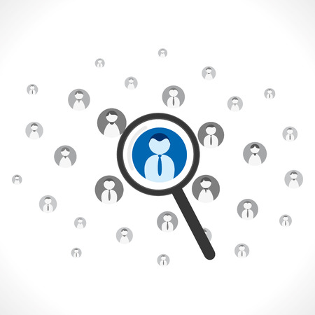 search right people for job background vector Vector
