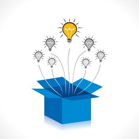 Nouvelle idée de sortir de la boîte vecteur concept Banque d'images - 25438860