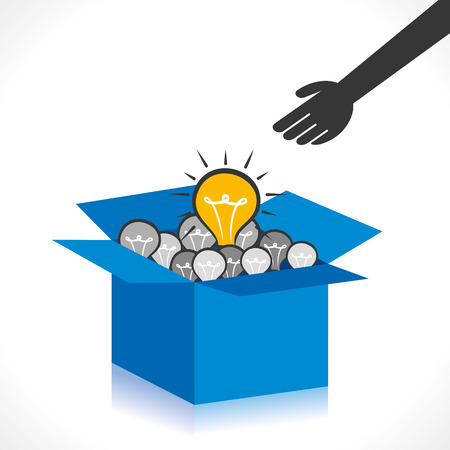 think out of the box concept oe new idea concept vector Иллюстрация
