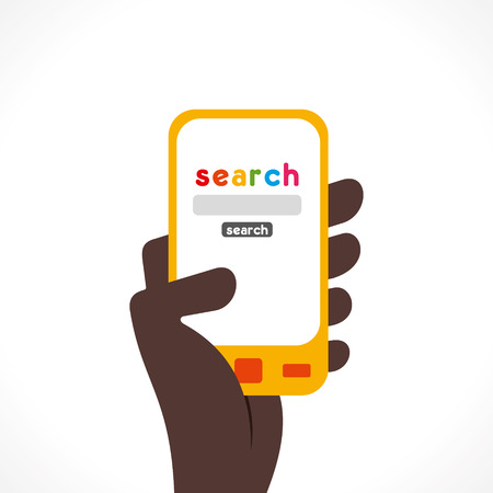 anything: search anything one touch using mobile via internet concept vector
