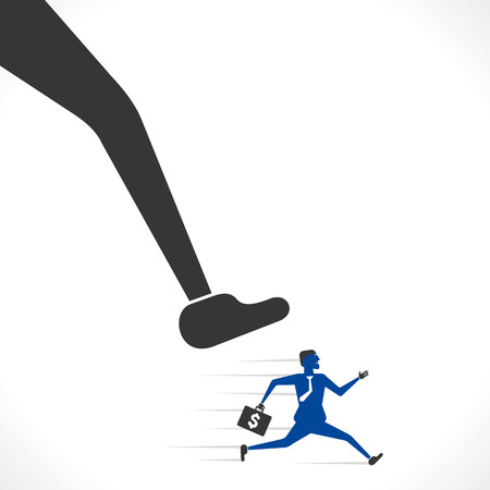 big foot try to hit the businessmen concept vector Stock Vector - 25707651