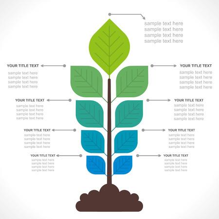 tree creative info-graphics concept vector Иллюстрация