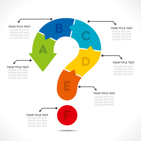 timelines: creative question mark info-graphics concept vector