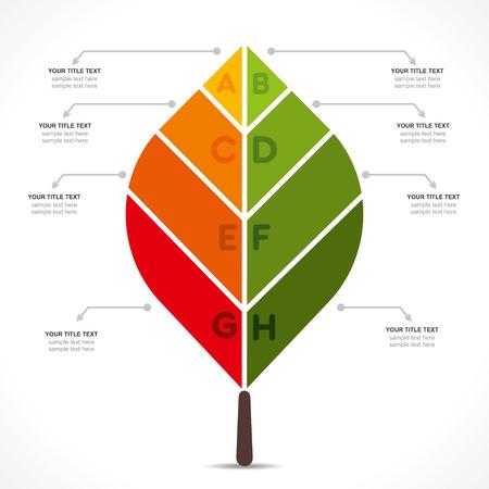 creative leaf info-graphics design concept vector Illustration