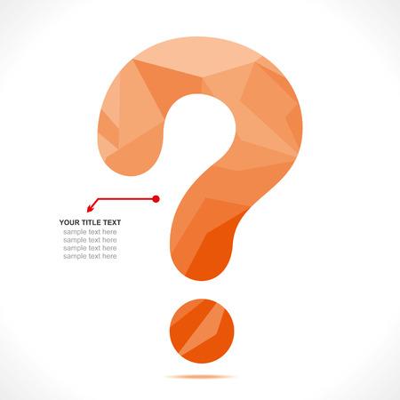 creative question mark design concept vector Illustration