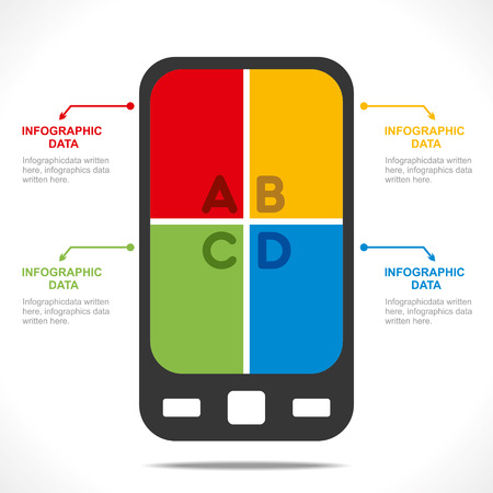 creative mobile info-graphics design concept vector Vector
