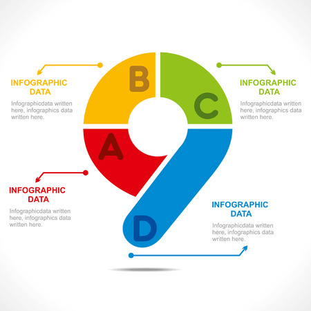 creative number  9  info-graphics design concept vector