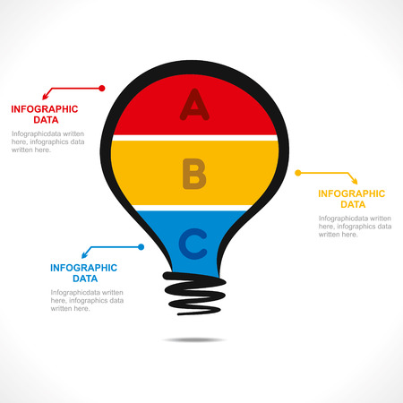 creative bulb info-graphics design vector Vector
