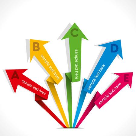 phonographic: creative business arrow info-graphics vector