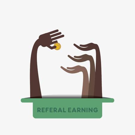 creative referal earning design concept vector Illustration