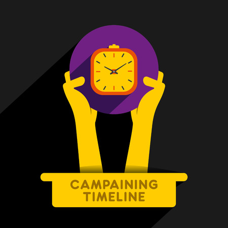 campaigning: creative campaigning timeline icon design concept vector