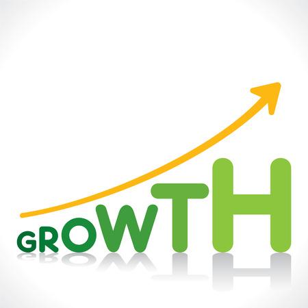 成長の単語のデザイン コンセプトの創造的なビジネス成長のグラフィック デザイン