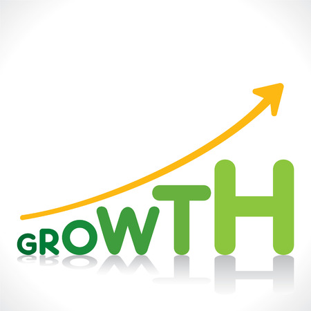 strong growth: creative business growth graphics design with growth word design concept