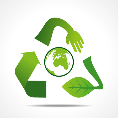 antipollution: creative recycle shape design concept