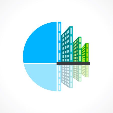 realestate: creative real-estate icon design concept