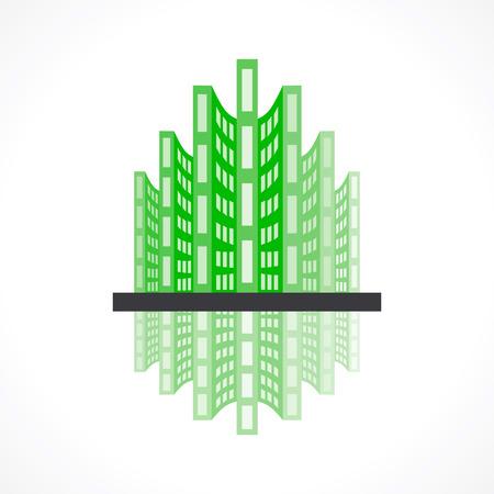 bioedilizia: creativo icona del design bioedilizia concetto