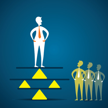 equalize: creative concept of balance , men balancing in business concept