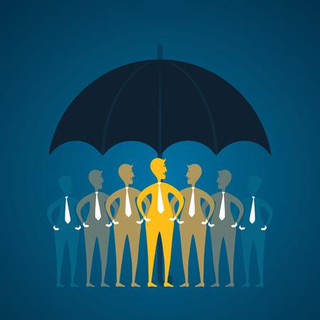 umber: business team under umber or secure concept