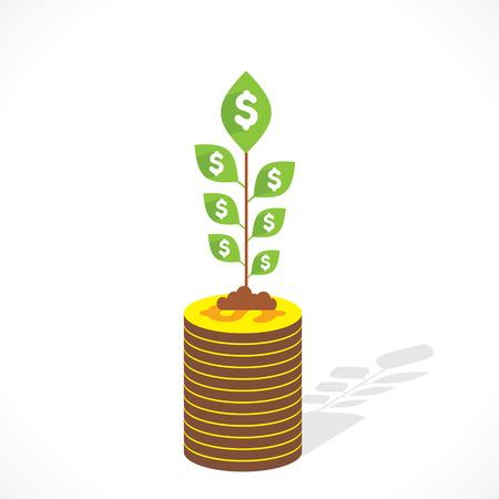 money grow concept vector