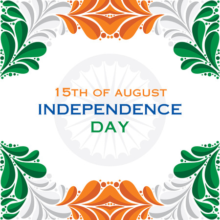 happy independence day greeting background  Vector