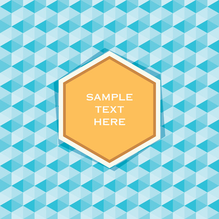 hexagonal shaped: creative product or banner design cover vector