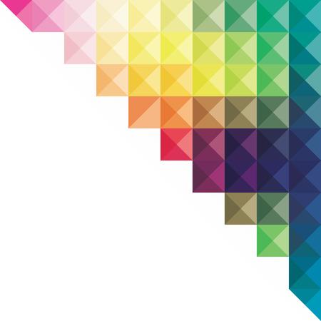 triangular banner: creative colorful triangular design banner design vector