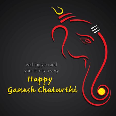 happy Ganesh Chaturthi festival achtergrond vector