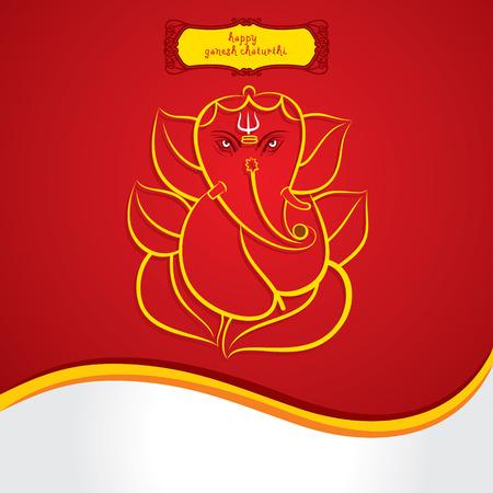 ganapati: happy ganesh chaturthi festival greeting card background vector