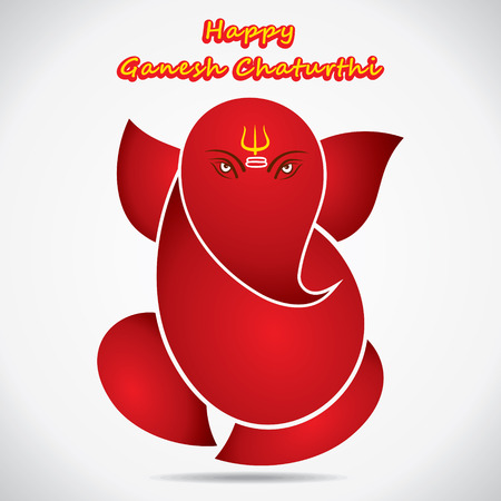 happy ganesh chaturthi festival greeting background vector Vector