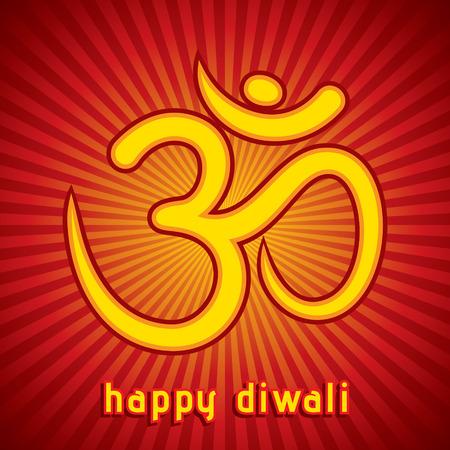 creative diwali festival greeting card background vector Vector