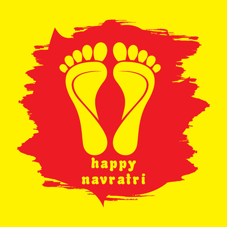 happy diwali or navratri festival greeting card background vecto Vector