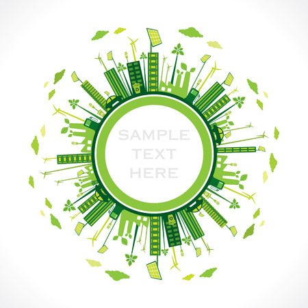 go green or save earth background concept vector Illustration