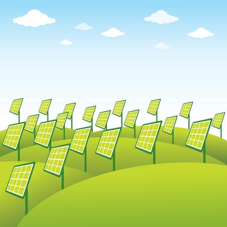 green energy source solar panel background vector Vector