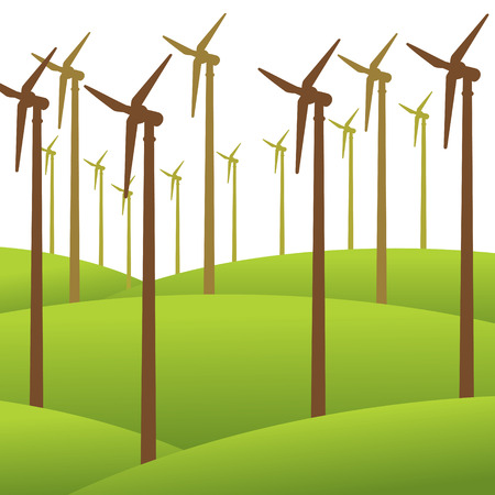 harmless: wind mill renewable energy background vector