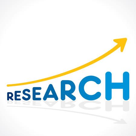 searh: creative research word graph design vector Illustration