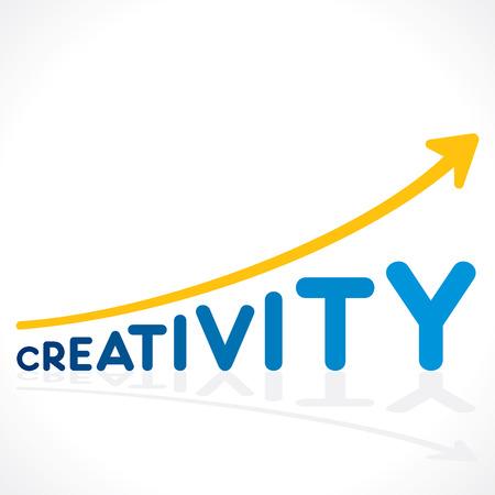creativity concept: creativity word graph design or increase creativity concept vector Illustration