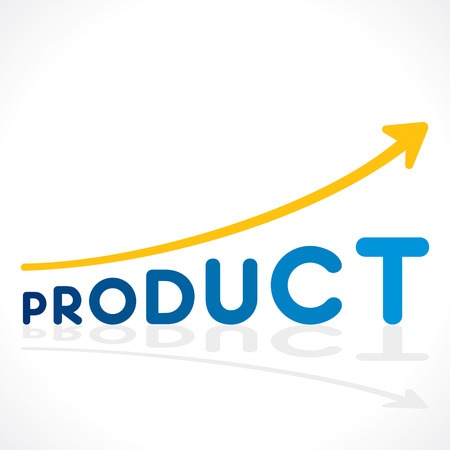 creative increase product sell growth graph vector