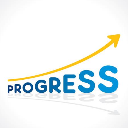 progressively: creative progress word growth graph vector