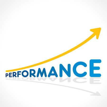 creative perfromance word growth graph vector