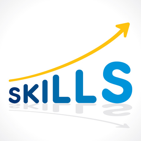 creative skills word growth graph vector