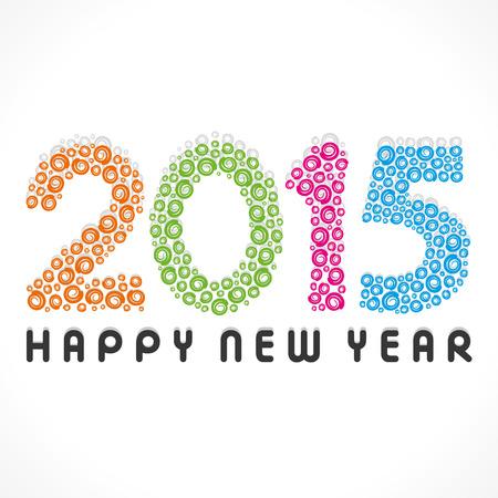 nieuwjaar: Gelukkig Nieuwjaar groet 2015 voorraad vector