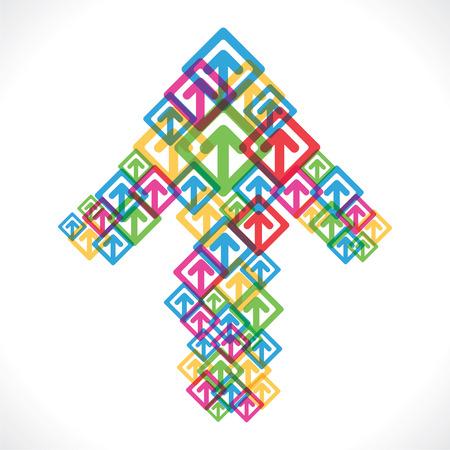 colorful arrow move up icon design Vector