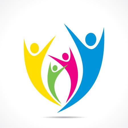 creative freedom: creative colorful enjoy or celebration icon design