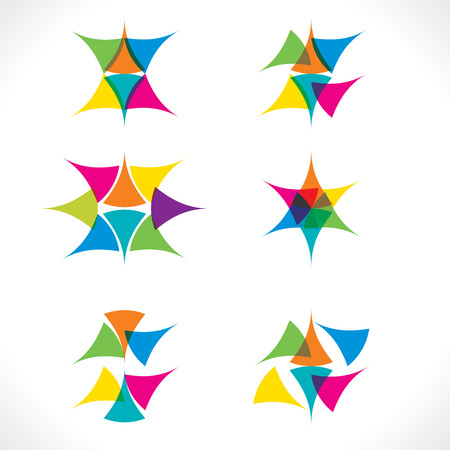 abstract colorful icon design vector Vector