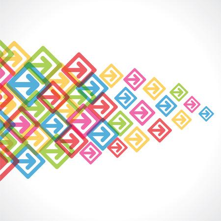colorful arrow move or forward background vector Vector